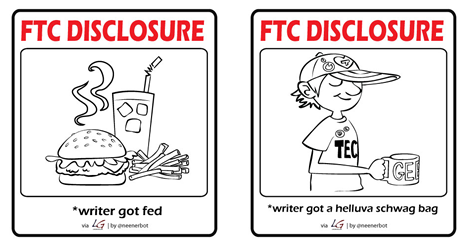 FTC Disclosure: writer got fed and schwag bag