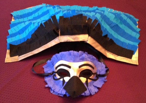Here's the mask with the Headdress